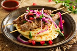 lamb with pitta